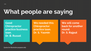 Chiropractor practice business loan
