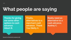 Alternatives to a merchant cash advance