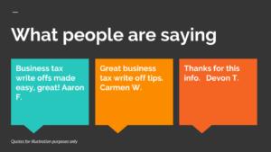Business tax write offs