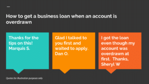 How to get a business loan when your account is overdrawn