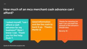 Can my business afford an mca merchant cash advance?