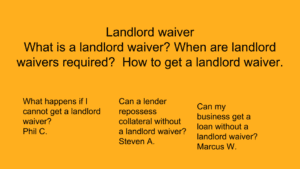 landlord waiver