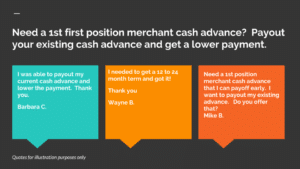 Need a 1st position merchant cash advance?
