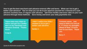 How to get the best cash advance renewal terms