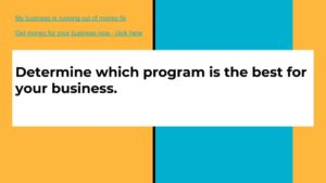 Determine which program is best for your business