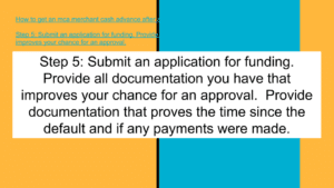 Submit an application for funding.