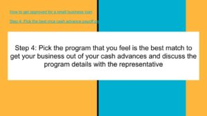 Choose the best mca merchant cash advance payoff program