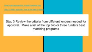 Review the criteria from different lenders needed for approval.