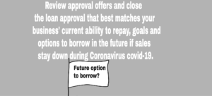 Review coronavirus covid-19 business loan approvals