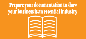Prepare your documentation to prove your business is critical to the community.