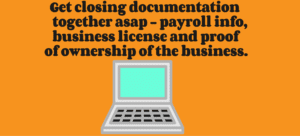 Get closing information together for the paycheck protection program