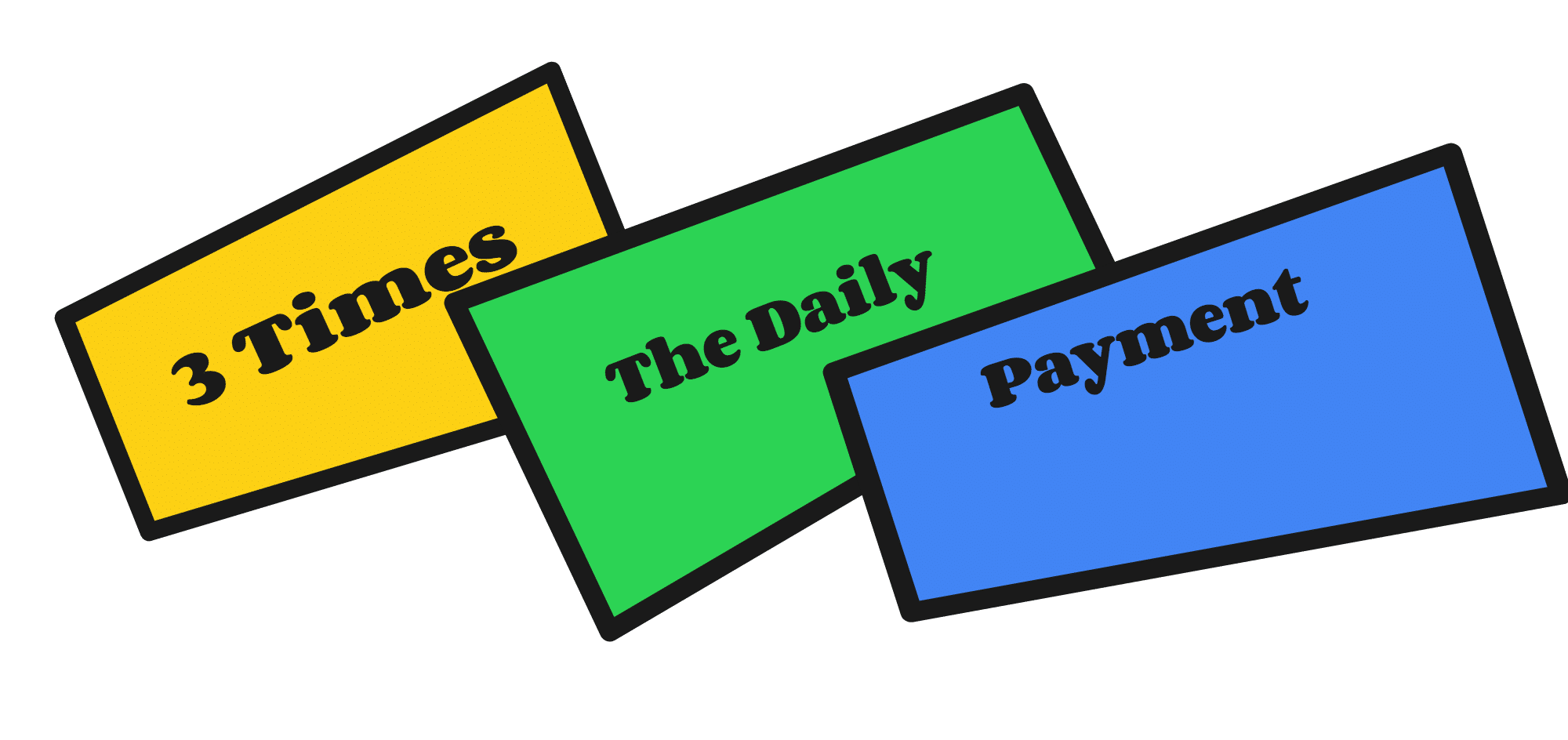 Three times the daily payment